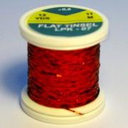 Tinsel plat Rouge